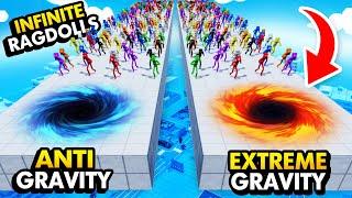 EXTREME GRAVITY vs ANTI GRAVITY With INFINITE RAGDOLLS (Fun With Ragdolls: The Game Funny Gameplay)
