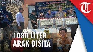 Polres Tuban Ungkap Produksi Miras yang Dilakukan Seorang Petani, 1080 Liter Arak Disita