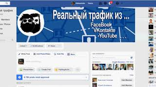 Реальный трафик 57 000 друзей в группу за 5 минут ФИШКА