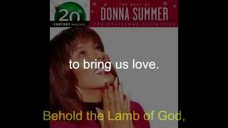 "Donna Summer - Lamb of God LYRICS - Remastered ""Christmas Spirit"" 1994/2005"