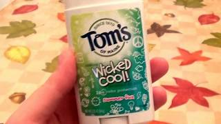 Tom's of Maine Wicked Cool! Summer Fun Natural Deodorant Stick 4 Girls REVIEW