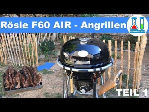 Angrillen/ erster Test des Rösle F60 Air - 3-2-1 Ribs + Krustenbraten auf Videro G4-S - Teil 1