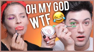 TESTING CHEAP AMAZON MAKEUP WITH LAURA LEE! WE'RE SHOOK!