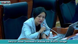 Депутат Айым ЧИНОВНИКТИ жакшы эле ЖАРГА такады | Акыркы Кабарлар