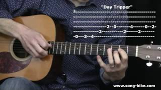 """Day Tripper"" by The Beatles : 365 Riffs For Beginning Guitar !!"