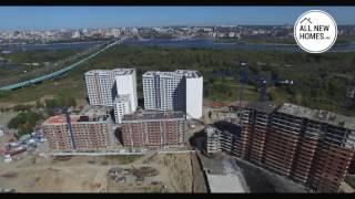 Квартал «Панорама» в Новосибирске. Вид с воздуха