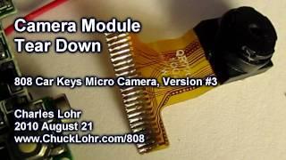 Tear Down, Camera Module, #3 808 Car Keys Micro Camera