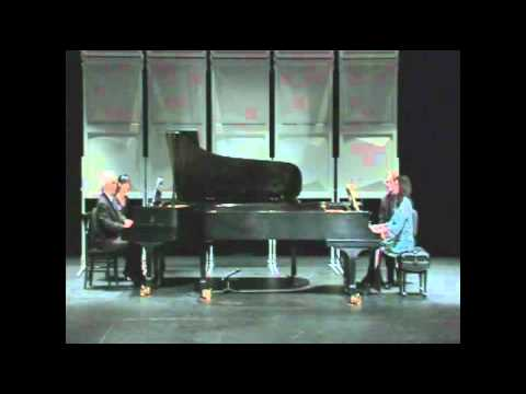 Chopin duo pianos with my husband.
