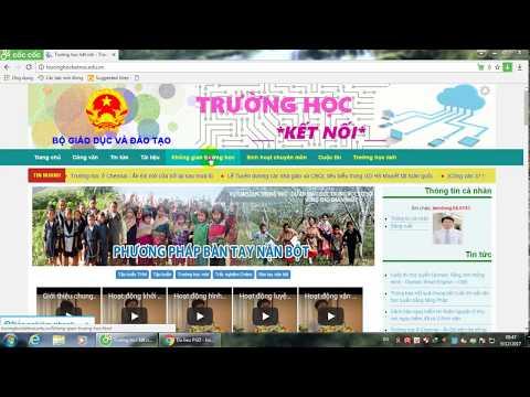 Hướng dẫn chuyển lớp cho HS trên trang mạng Trường học kết nối
