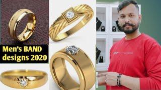 New 2020 Mens Gold Band Designs / Daily Wear Mens Band Style Rings/ Band Ri /