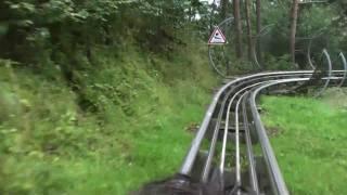 preview picture of video 'Fahrt auf der Sommerrodelbahn Silberseebob'