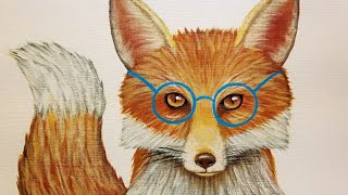 Hipster Fox With Glasses Acrylic Painting Tutorial | How To Paint Woodland Animals | LIVE