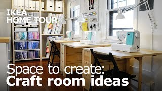 Craft Room Ideas For A Bonus Room - IKEA Home Tour (Episode 406)