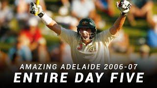 LIVE Flashback: Amazing Adelaide, Day Five | 2006-07 Ashes