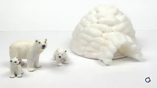 Bricolage igloo en nouilles magiques