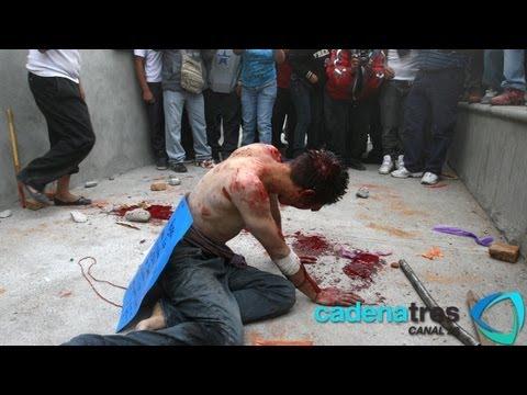Golpean e intentan linchar a presunto secuestrador en Ecatepec.Santa Maria Chiconautla