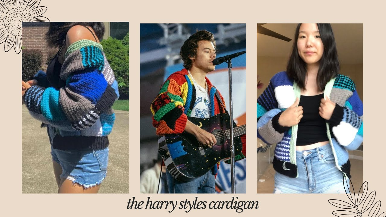 crocheting the harry styles cardigan from tik tok