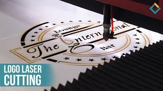 Logo cutting process with Laser cutting machine