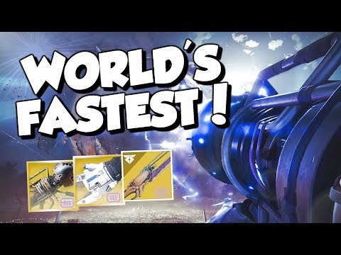 Zero Hour Speedrun World Record! in 8:18 (11:42 Left) Destiny 2