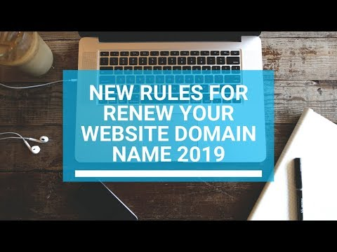 new rules for renew your website domain name 2019