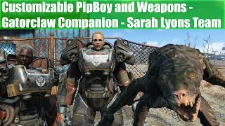 Fallout 4 Mods Customizable Pipboy and Weapons - Gatorclaw Companion - Sarah Lyons