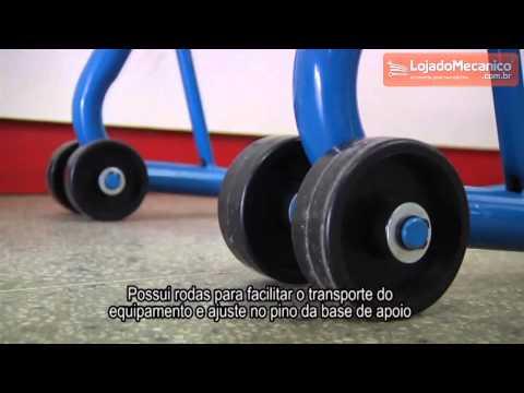 Cavalete para Suspensão Traseira para Motos de 600kg - Video