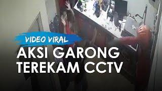 Aksi Garong Terekam CCTV Bawa Pistol dan Celurit, Gasak Pegawai Ekspedisi di Cipayung
