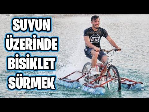 SUYUN ÜSTÜNDE GİDEN BİSİKLET YAPTIM!!