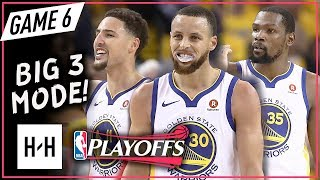 Warriors BIG 3 Full Game 6 Highlights vs Rockets (2018 Playoffs WCF) - Stephen Curry, Durant & Klay!