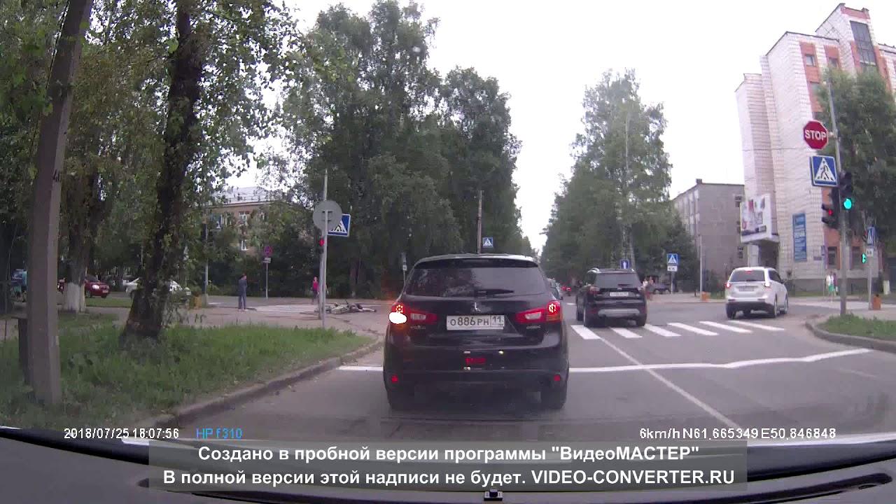 Велосипедисты  столкнулись на перекрёстке в Сыктывкаре