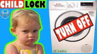 How to turn off Child Lock on Bosch Washing Machine