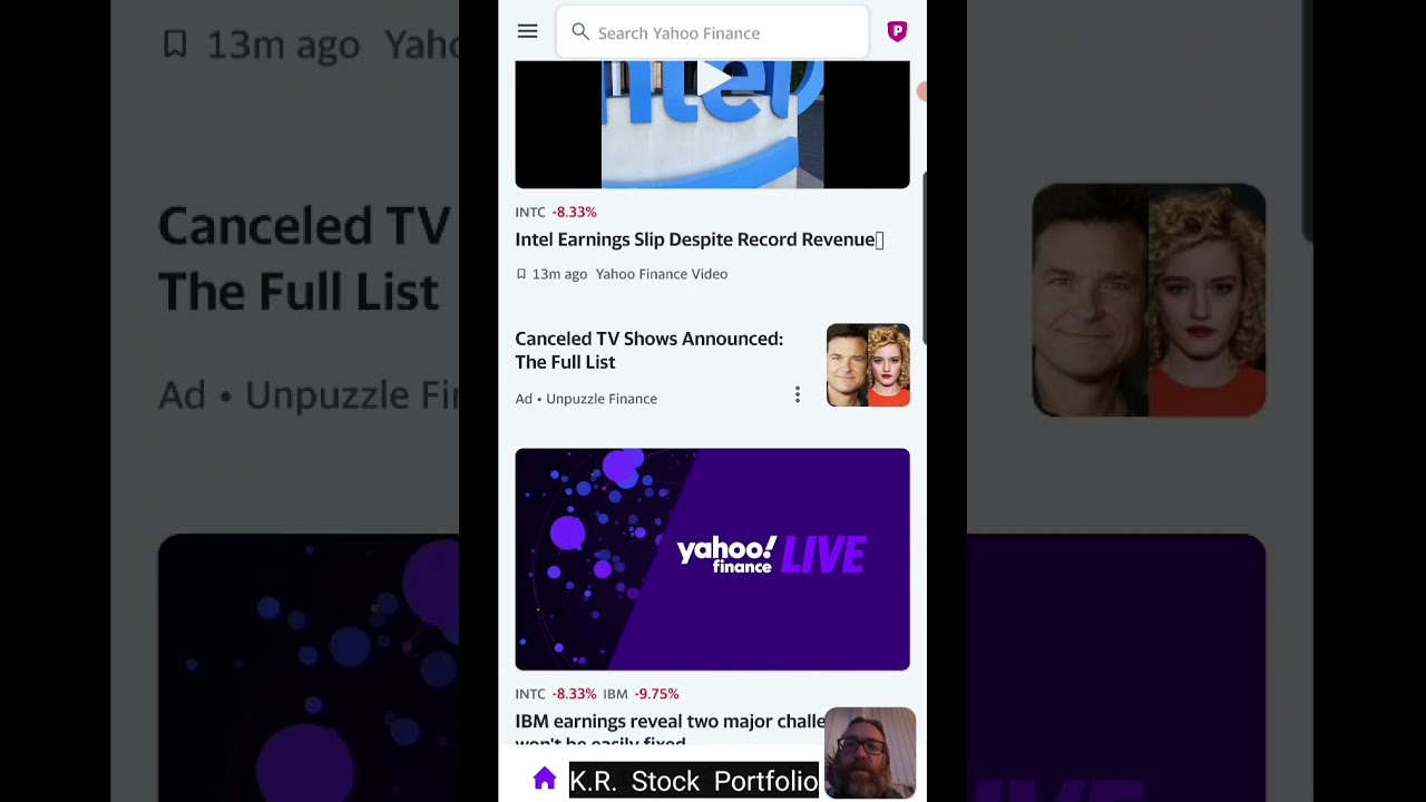 Why I utilize the Yahoo Financing mobile app to track my stock portfolios thumbnail