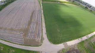 A little fpv flight with my amax 7 inch over the fields