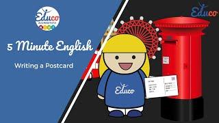 5 Minute English I Writing a Postcard I English Grammar I Travel Phrases