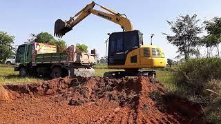 รีวิว รถขุด  komatsu pc70-8 and dump truck วันนี้ลอกนาครับ EP.3482