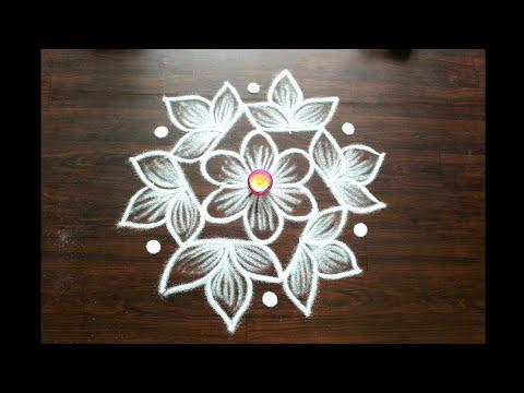 7x4 dots beautiful rangoli designs by Shital Daga  easy rangoli designs with funnel