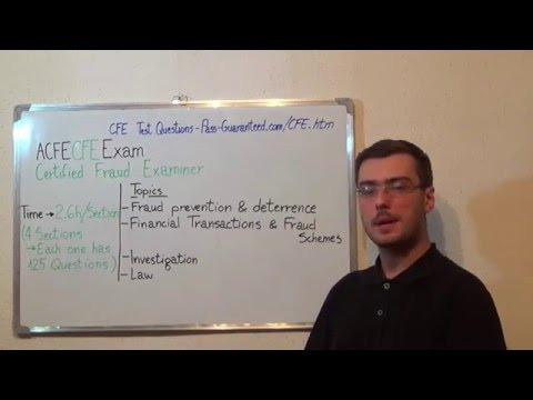 CFE – Certified Exam Fraud Test Examiners Questions - YouTube