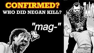 WHO DID NEGAN KILL? CONFIRMED?!