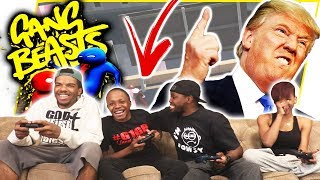LITTLE BLACK BOY ATTEMPTS TO PUNCH TRUMP! - Gang Beasts Gameplay