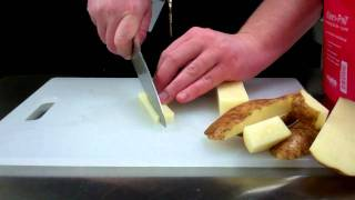 How to julienne and medium dice a potato