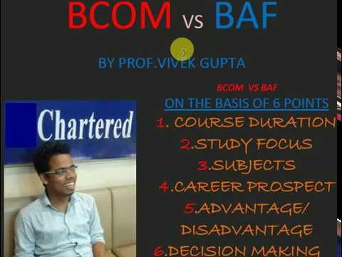 BCOM vs BAF (all about BCOM & BAF)