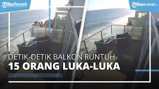 Video Rekaman CCTV Balkon Rumah di Tepi Pantai Runtuh saat 15 Tamu Asyik Berpesta, 2 Luka Parah