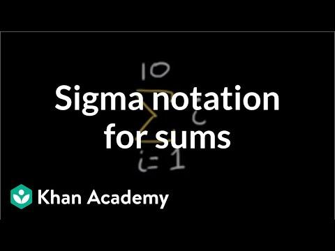Summation notation (video) | Khan Academy