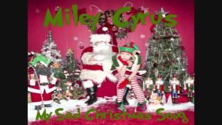 Miley Cyrus - My Sad Christmas Song (Lyrics + Pictures)