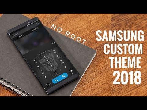 Samsung Custom Themes | Galaxy Black | Oreo & Nougat - смотреть