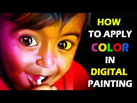 how to apply colors in digital painting by sai saranesh arts