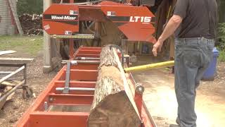 How to get good lumber from bad logs with a Woodmizer LT15