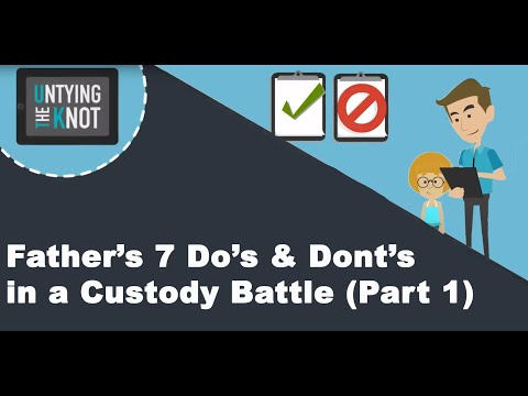 Father: A Father's 7 Do's & Don'ts In A Custody Battle Part 1