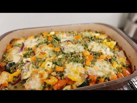 Kartoffel Gemüse Auflauf aus der großen Ofenhexe von Pampered Chef