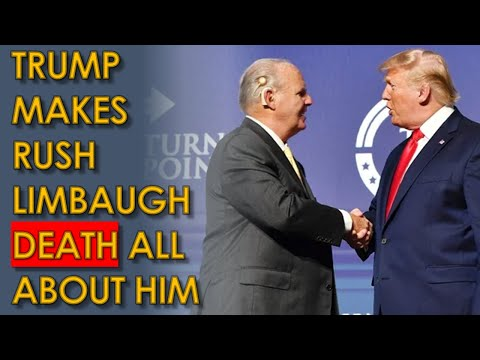Trump makes Rush Limbaugh Death all about his Election DELUSIONS during Fox News Interview